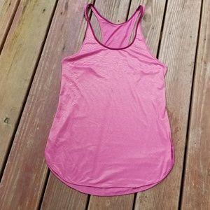 Lululemon athletic pink w/maroon trim tank top